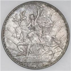 Mexico City, Mexico, 1 peso  Caballito,  1910, NGC AU details / cleaned.