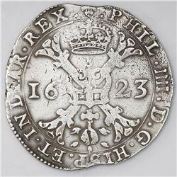 Brabant, Spanish Netherlands (Brussels mint), patagon, Philip IV, 1623.