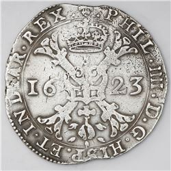 Brabant, Spanish Netherlands (Brussels mint), patagon, Philip IV, 1623.