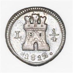 Lima, Peru, 1/4 real, 1812.