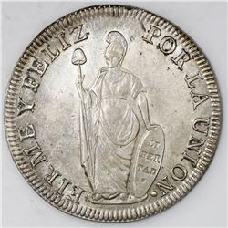 Lima, Peru, 8 reales, 1834MM.