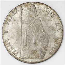 Lima, Peru, 8 reales, 1855MB.