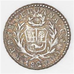 Cuzco, Peru, 1/2 real, 1828G.