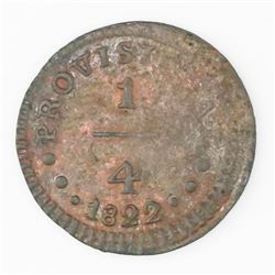 Lot of two Lima, Peru, 1/4 real: copper, 1822; silver, 1836/5.