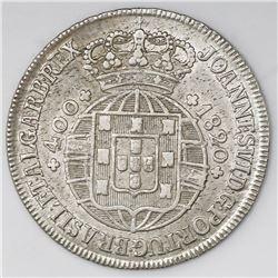 Portugal (Lisbon mint), 400 reis, Joao VI, 1820.