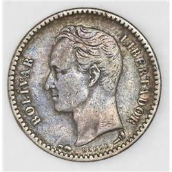 Venezuela (struck in Paris, France), (1/2 bolivar), 1901.