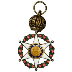 Brazil, gilt and enameled star decoration, no date (1829-89), Pedro I or II, Imperial Order of the R