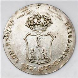 Havana, Cuba, silver proclamation medal, Isabel II, 1834.