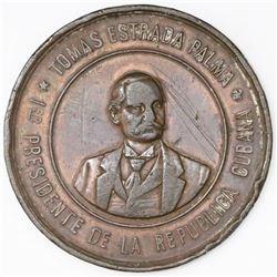 Cuba, bronze proclamation medal, 1902, First President Estrada Palma, ex-Rudman.