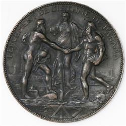 Panama (France), bronze medal, 1880, French Panama Canal Construction Commencement, ex-Rudman.
