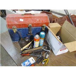 METAL TOOL BOX & MISC SHOP ITEMS