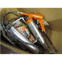 2 GREASE GUNS (AIR & MANUAL) & MISC ITEMS