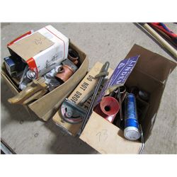 LOT OF PAINT SPRAYER, NEW FLARE KIT, BITS, TORQUE WRENCH TOOLS, ETC.