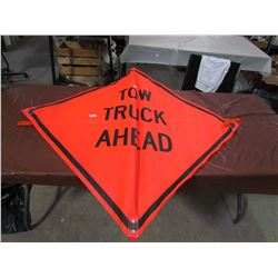 CAUTION SIGN, 'TOW TRUCK AHEAD'