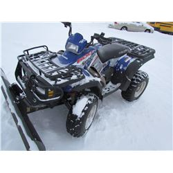 2004 POLARIS (600CC) QUAD (4X4) *W/BLADE MILEAGE 2040