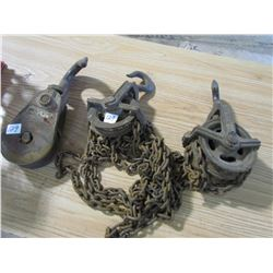 CHAIN HOIST (½ TON) & HOOK & PULLY (LEBUS) *8 TON*