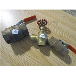 BRASS VALVES (QTY 3)