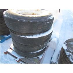 TIRES & RIMS (BRIDGESTONE) *11R22.5* (QTY 4)