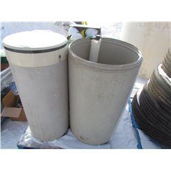 PLASTIC BARRELS (QTY 3)
