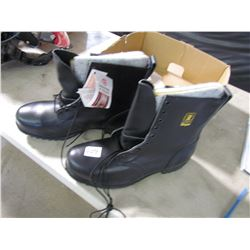 NEW STEEL TOE WORK BOOTS (ROYER) *INSULATED SIZE 12*