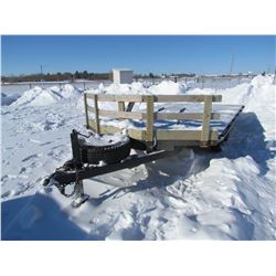 16' TANDEM TRAILER (8' WIDE, SINGLE RAMP) *3,500 LB AXLES* (FOR SLED OR QUAD) *EX. COND.*