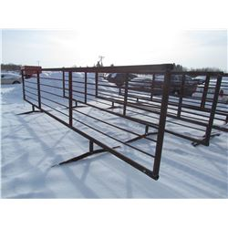 CORRAL PANEL (24' FREE STANDING) *5 SUCKER ROD, CHAIN TOGETHER*