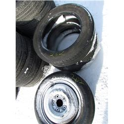2 TIRES (225-60R-18, CONTINENTAL) & 2 SPARE TIRES