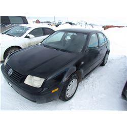 2000 VW VR6 JETTA (SK REG'D) *VIN 3VWSE29M8YM173895* (KEYS, NEEDS TRANSMISSION)