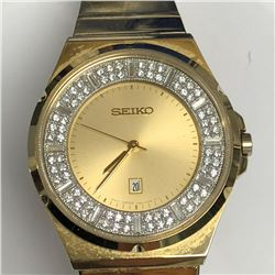 4) SEIKO DIAMOND WATCH