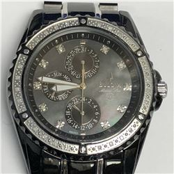 14) BULOVA MARINE STAR DIAMOND 100M CHRONOGRAPH W