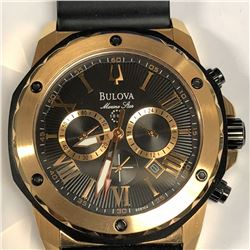 21) BULOVA MARINE STAR 100M CHRONOGRAPH WATCH