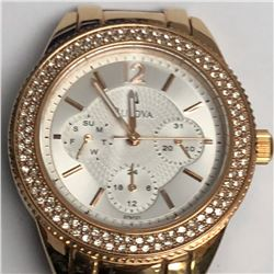 29) BULOVA DIAMOND CHRONOGRAPH WATCH