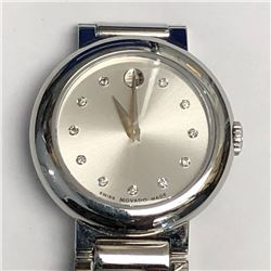 36) MOVADO SWISS MADE DIAMOND WATCH
