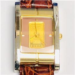 47) CREDIT SUISSE 1G FINE GOLD QUARTZ WATCH