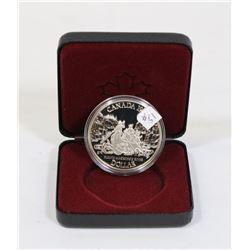 1989 CANADA SILVER DOLLAR COIN IN CASE