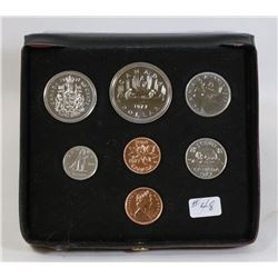 1977 CANADA DOUBLE PENNY CASED COIN SET