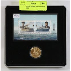 2010 CANADA PROOF NAVY COIN & STAMP SET