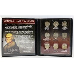100 YEARS OF AMERICAN NICKELS COLLECTION COINS IN