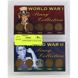 WW1 AND WW2 PENNY COLLECTION IN CASE