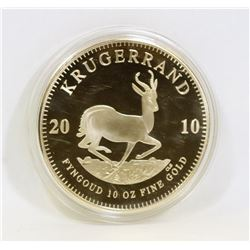 2010 KRUGERRAND 10OZ FYNGOUD 10OZ REPLICA.
