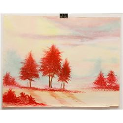 RED FOREST  22 X 28  BY WILLIAM VERDULT