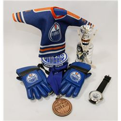 LOT OF NHL MEMORABILIA INCLUDES GRANT FUHR SIGNED