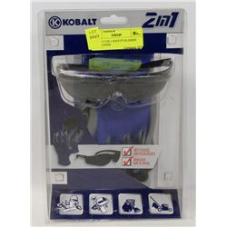 KOBALT 2 IN 1 SAFETY GLASSES AND GLOVES