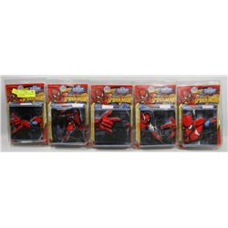 LOT OF 5 SELF STICK 3D SPIDERMAN WALL BORDER