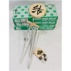 LOT OF 3 TIANYI WIND CHIMES