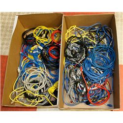 TWO FLATS OF ASSORTED LENGTH NETWORK PATCH CABLES