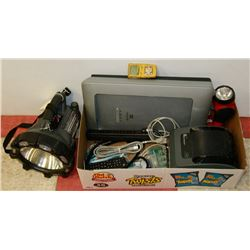 LARGE BOX OF UNTESTED ELECTRONICS INCLUDING