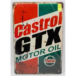 "NEW 12"" X 8"" CASTROL GTX MOTOR OIL METAL SIGN"