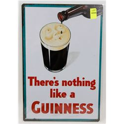 """NEW 12"""" X 8"""" THERE'S NOTHING LIKE A GUINNESS METAL"""