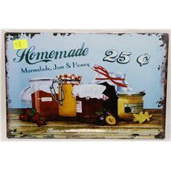 """NEW 12"""" X 8"""" HOMEMADE MARMALADE, JAM & HONEY METAL"""